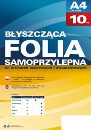 Argo Błyszcząca folia poliestrowa z klejem A4, 10 sztuk  (434020)