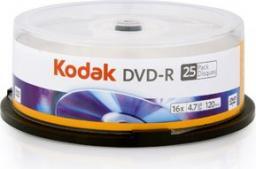 Kodak DVD-R 4.7GB, CAKE 25 sztuk  (1410325)