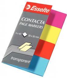 Esselte Indeksy samoprzylepne. przezroczyste Contacta (83017)