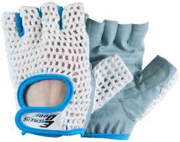 Energetic Body Rękawice treningowe Fitness Lady biało-niebieskie r. L