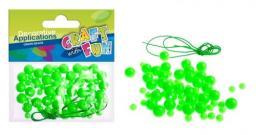 Craft with Fun Ozdoba dekoracyjna Koraliki Plastikowe Zielone 80 sztuk (MTCR BD007)