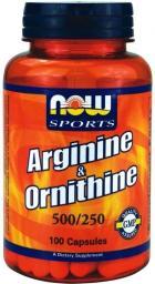 NOW Foods Arginine & Ornithine 100 kapsułek
