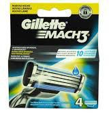 Gillette GILLETTE_Mach 3 wymienne ostrza do maszynki do golenia 4szt - 7702018408740