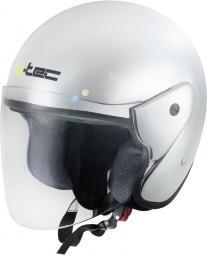 W-TEC Kask motocyklowy otwarty AP-74 srebrny chrom r. XS (53-54) (13578)