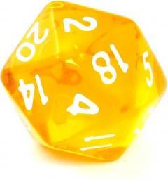 Rebel Kość kryształowa 20 Ścian - Cyfry - Żółta (106296)
