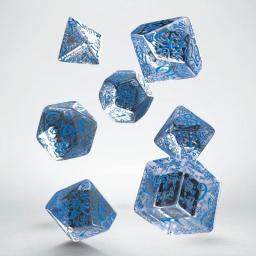 Q-Workshop Komplet Kości elficki - Przejrzysto-niebieski