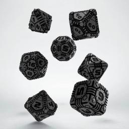 Q-Workshop Komplet Tech Dice - Szaro-czarny