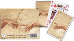 Piatnik Karty 2 talie Lux - Michał Anioł - Stworzenie Adama (22711)