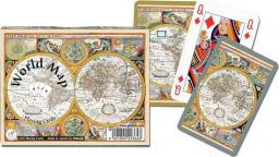 Piatnik Karty 2 talie - World Map (96963)