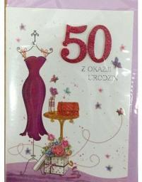 Panorama Karnet urodziny B6 Premium 67 + koperta