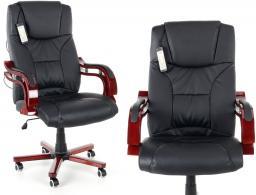 Calviano Fotel Biurowy Prezydent Z Masażem Czarny Id Produktu 1650188