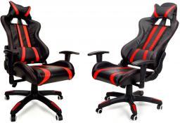 CALVIANO Fotel biurowy GAMER czarno-czerwony