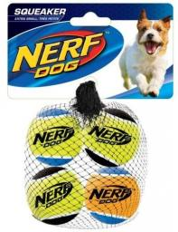 HAGEN Nerf Piłka Tenis Piszcząca Mała 4szt