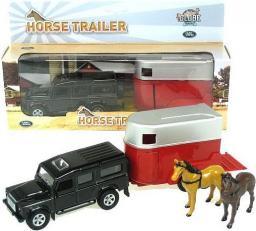 Hipo Land Rover z przyczepą do transportu koni w pudełku (521712)