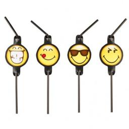 AMSCAN Słomki do napojów Smiley Emoticons, 8 sztuk (9901291)