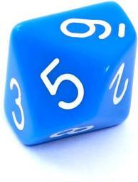 Rebel Kość matowa 10 Ścian - Cyfry - Niebieska (106206)