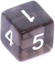 Rebel Kość kryształowa 6 Ścian - Cyfry - Czarna (106305)