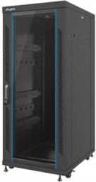 """Szafa Lanberg stojąca 19"""" 27U 600X800 czarna, FLAT PACK (FF02-6827M-12B)"""
