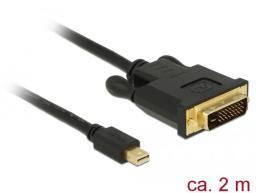 Kabel Delock DVI DisplayPort Mini, 2m, Czarny (83989)