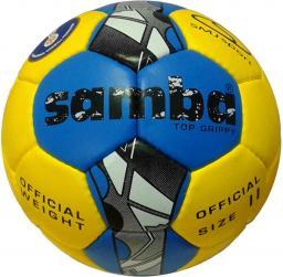 SMJ sport Piłka ręczna Samba Top Grippy IHF żółto-niebieska r. 2 (5522)