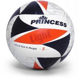 SMJ sport Piłka siatkowa Princess Light biało-czarno-pomarańczowa r. 5 (9326)