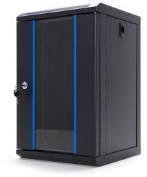Szafa DigitalBOX START.LAN RACK 10'' 9U 312x300mm black (drzwi szklane) (STLWMC10C-9U-GSB)