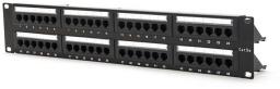 Szafa DigitalBOX patchpanel 19''/1U, kat. 5 UTP 48 porty, demontowany organizer kabli (STLPP48UC5E-D)