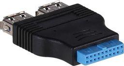 Akyga 2 x USB 3.0 - 19-pin Czarny (AK-CA-58)