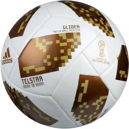 Adidas Piłka nożna Telstar World Cup 2018 Glider White r. 5 (CE8099)