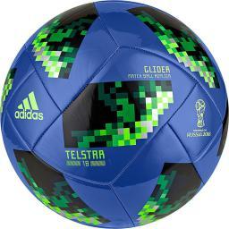 Adidas Piłka nożna Telstar World Cup 2018 Glider Blue r. 5 (CE8100)