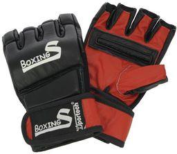 Welltek Rękawice do MMA BoxingS Flex skóra czarne r. XL (WLTK-MMAG-811)