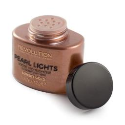 Makeup Revolution  Pearl Lights Loose Highlighter Rozświetlacz w pudrze Sunset Gold  25g