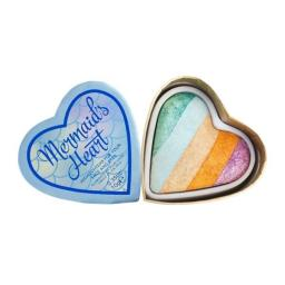 Makeup Revolution I Heart Makeup Blushing Hearts Rozświetlacz do twarzy Mermaid's Heart 10g