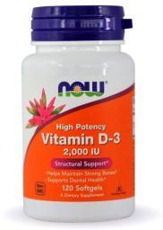 NOW Foods Vitamin D-3 2000IU 120 kapsułek