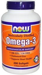 NOW Foods Omega 3 - 200 kapsułek