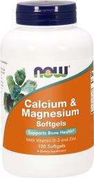 NOW Foods Calcium & magnesium  z dodatkiem witaminy D 120 kapsułek