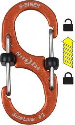 Nite Ize Karabińczyk S-Biner SlideLock #2 aluminium pomarańczowy (LSBA2-19-R6)