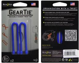 Organizer Nite Ize Zestaw linek Gear Tie Original 6'' gumowy niebieski 2 sztuki Nite Ize (GT6-2PK-03)