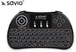 Klawiatura Savio KW-02 Bezprzewodowa Czarna US (KW-02)
