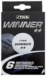 Stiga Piłeczka p-pongowa biała ** 6 szt Winner S515006 biały  (S515006)
