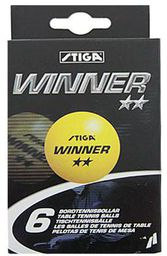Stiga Piłeczka  Winner ** 6 szt. S515506 pomarańczowy  (S515506)