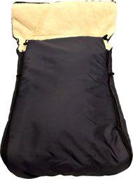 Spokey Śpiworek wełniany dla malucha na sanki czy wózek czarny (17576)