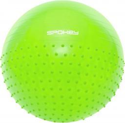 Spokey Piłka gimnastyczna z cześcią do masażu Half Fit zielona 65cm