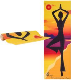 inSPORTline Mata do jogi do ćwiczeń Medita Yellow pose (16655-1)
