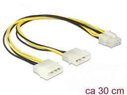 Delock Kabel Molex 2x4Pin -> EPS 8Pin 30cm (85453)