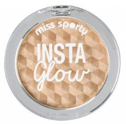 Miss Sporty Rozświetlacz do twarzy Insta Glow Highlighter 101 Golden Glow 5g