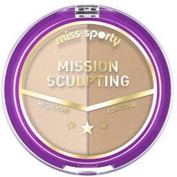 Miss Sporty Paleta do konturowania twarzy Mission Sculpting 002 Mission Brunette 9g