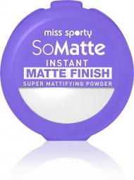 Miss Sporty So Matte Instant Matte Finish Super Mattifying Powder puder antybakteryjny w kamieniu 001 Universal 9.4g
