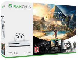 Konsola Microsoft Xbox One S 1TB + Assassin's Creed: Origins + Rainbow Six Siege (234-00234)
