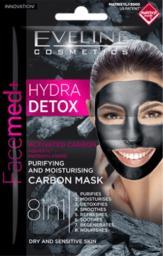Eveline Facemed+ Hydra Detox Maska węglowa 8w1 oczyszczająco-nawilżająca  7ml